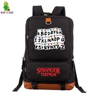 Wholesale purple laptops resale online - Stranger Things Backpack Collage Students Luminous School Bags for Teenage Girls Boys Large Laptop Backpack Casual Travel Bags