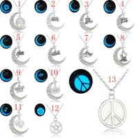 Wholesale tree life family gifts - Glow In the Dark Jewelry Pendant Luminous letter Necklace tree of life heart i love my wife forever family member necklace for Women 162658