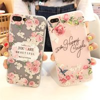 Wholesale gril flower for sale - Group buy TPU Soft Cover phone case Relief Flower gril phone case Full Coque for iphone plus case
