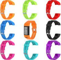 bestes sportarmband großhandel-BESTE Handgelenksschlaufe für Garmin Vivosmart HR Plus HR + Armband mit Werkzeug Schraube Sport Silikon Armbanduhr Armband Armband