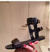 ingrosso scarpe marrone gladiatore-nuovo stile caldo vendita marrone fiore lettere donna Sandali Gladiatore Donna in pelle pompe sandali scarpe