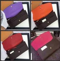lange taschenmappen für männer großhandel-Großhandel dame luxus multicolor designer geldbörse lange brieftasche colourfull Kartenhalter frauen mann klassische reißverschlusstasche