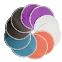 poitrine de fibre achat en gros de-10 pcs Bambou Superfine Fiber Lavable Pads de soins infirmiers pour après l'accouchement Mère coussinets de sein réutilisables pour bébé