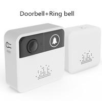 Wholesale home alarm camera door for sale - Wireless Video Doorbell HD P WiFi Home Smart Doorbell Camera with Door Bell Ring Alarm Chime Phone Intercom Audio Free APP Control