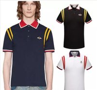 erkek gömlek ünlü marka toptan satış-Sıcak satış Yeni moda mens tshirt yaz kısa en kaliteli pamuk POLO gömlek ünlü tasarımcılar marka slim fit t gömlek erkekler