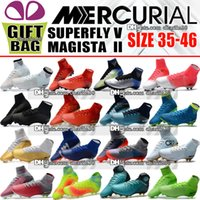 Wholesale mix kids shoes - High Ankle Kids Soccer Cleats Mercurial Superfly V CR7 Neymar JR FG TF AG ACC Soccer Shoes Top Mens Women Boys Indoor Soccer Cleats Ronaldo