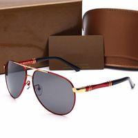 nueva forma de gafas al por mayor-Gafas de sol de marca Nuevas gafas de sol Diseñador de marca Forma cuadrada de metal Retro Hombres de diseño Gafas de sol de marca Lentes Gafas con fundas originales