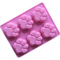 ingrosso cuocere il gatto-Stampo per torta Cucciolo Cucciolo Silicone Cat Zampa Sapone fatto a mano Rosa Cottura Utensile da cucina Stampo Fabbrica diretta 2 2xg V