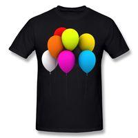 ingrosso camicia a maniche corte-Hot Sell Man Cotton Balloon boy T-Shirt Uomo Girocollo Bianco Camicie maniche corte Camicetta 4XL T-shirt divertente