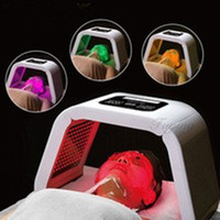 Wholesale machine for skin tightening resale online - 4 Color LED Light Therapy For Acne Freckle Removal LED Photon Mask PDT light Detachable Beauty machine salon use