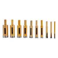 Wholesale diamond glass drill bits resale online - 10Pcs Diamond Drill Bit Set mm mm Glass Tile Hollow Core Extractor Remover Tools Diamond Hole Saw for Glass Ceramics Marble Porcelain