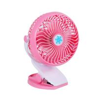 secretária mecânica venda por atacado-Portátil Mini Desk Fan 360 Graus de Rotação de Carga USB Stepless Speed Clipe Ventilador Elétrico Ventilador De Refrigeração Para Home Office