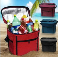 Wholesale picnic cooler box - Oxford Insulated Lunch Bag Cooler Tote Sack Box Portable Picnic handbag Cooler Ice Bag Lunch tote KKA5612
