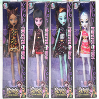 Wholesale best toys for kids online - New Style Monster Fun High Dolls action figures Monster Draculaura Hight Moveable Joint Children Best Gift Fashion Dolls for kids toys