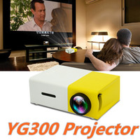 Wholesale YG300 LED Portable Projector LM mm Audio x Pixels YG USB Mini Projector Home Media Player DHL Free