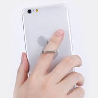 Wholesale gold rabbit iphone online - Rabbit Design Phone Holders Degree Metal Finger Ring Mobile Phone Smartphone Stand Holder For iPhone for Samsung Smart