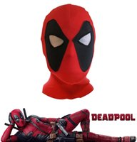 Wholesale deadpool costume online - Marvel Deadpool Masks Head Cover Hood Superhero Cosplay Costume Party Headwear Bow Cap Full Face For Men Kids NNA523