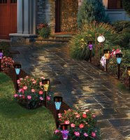ingrosso decorazioni di bordi-Solar Powered Lamp Solar Mosaico Border Garden Post Luci Decorazione del giardino Luce di palo Luce solare a Led Pathway Light Regali di Natale