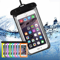 Wholesale iphone water seal online – custom For iPhone S Plus Universal Sealed Waterproof Bag Case Mobile Phones Waterproof Dry Cell Neck Pouch Bags For Samsung S9 S8