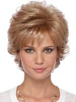 hohe mode kurze perücken großhandel-Frauen Kunsthaar Perücke Curly Chic All Match Mode Perücke Zubehör Mode Mikrorolle Kurzes Haar Hochwertige Chemiefaser
