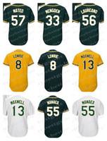 Wholesale oakland baseball jersey - Men's Oakland Jerseys 56 Ramon Laureano 8 Jed Lowrie 55 Sean Manaea 57 Jorge Mateo 13 Bruce Maxwell 33 Daniel Mengden Jerseys