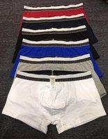 kırmızı iç çamaşırı toptan satış-Erkekler Underwears Boksörler Lüks VE Marka Logolar Külot Siyah Kırmızı Pamuk Boksörler Moda Seksi Külot Ücretsiz Kargo