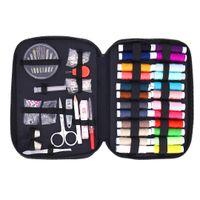 швейные пуговицы оптовых-90 sets of multi-function sewing thread sewing thread stitch tool kit fabric button craft scissors travel kit