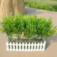 ingrosso pianta di bambù in plastica-Natale 10 pezzi / set 37 centimetri di plastica artificiale pianta di bambù albero ramo matrimonio casa giardino decor falso fogliame verde