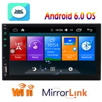 Wholesale mp3 mp4 mp5 android for sale - Android System in Dash Double Din Headunit Car Stereo am FM RDS Radio MP5 Player GPS Navigation Bluetooth WIFI