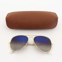 5fc7bc414f Alta calidad para mujer para hombre gradiente gafas de sol gafas Eyewear  diseñador Vassl Sun Glasses marco de oro lentes de cristal azules con cajas  ...