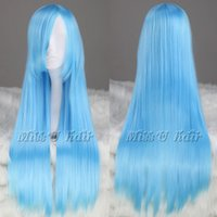 Wig Hair Legend of Sword Light Blue