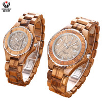 Wholesale Custom Logo Watches - XINBOQIN Factory Promotions Stock Product Personalized Gift Fashion Quartz Calendar Waterproof Wooden Lovers Watches Free Custom Logo