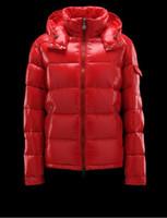 kış parka adam modası toptan satış-Moda Marka Kış Erkekler Açık Maya Parlak Mat Aşağı Ceket Casual Kapşonlu Down Coats Kabanlar Man sıcak ceketler Parkas S-3XL Mens