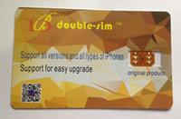 Wholesale iphone 5c unlock sim - Free DHL Double-Sim 4G Unlock card for iPone X 8 7 6 5S 5C 5 SE IOS 12.X GEVEY Plug & Play