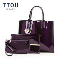 TTOU Pu Leather Handbag Women Luxury Brands Tote Bag Ladies Fashion Shoulder  Bag 3 Pcs Set Female Elegant e0582d9e80