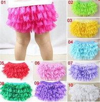 Wholesale pants bloomers tutu shorts for sale - INS baby girl infant toddler kids lace bloomers lace pants lace shorts chiffon pants tutu costumes cute underpants pp pants harem B11