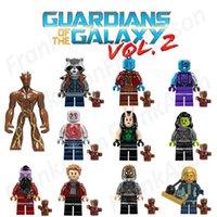 Wholesale Giant Baby - Guardians of the Galaxy Vol2 Figures Giant Groot Baby Groot Rocket Raccoon Star Lord Drax Yondu Ayesha Figure Mini Building Blocks Figures
