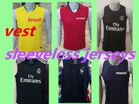 maillots de football sans manches achat en gros de-2018-2019-2020REAL MADRID maillots de football français paris messi mbappe brésil football maillot chemise sans manches maillots de football
