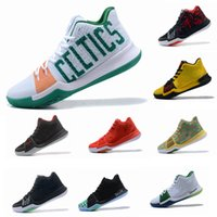 Wholesale Mesh For Sale - 2017 New Kyrie Irving 3 Basketball Shoes for Cheap Sale Sneakers Sports Mens Shoe Wolf Grey Team Red Outdoor Trainers BasketBall Boots