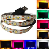 Wholesale rgb cable usb for sale - 5V USB Cable LED Strip Light Lamp SMD3528 cm cm cm Christmas Flexible Led Strip Light with Mini Controller TV Background Lighting