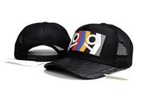 хип-хоп мода пары оптовых-Роскошные женщины мужчины Марка дизайнер летний стиль повседневная Cap популярные пары сетки бейсболка Авангард лоскутное мода хип-хоп Cap шляпы