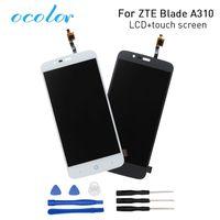 zte bıçaklı sayısallaştırıcı ekran toptan satış-ZTE Blade A310 için ocolor LCD Ekran + Dokunmatik Ekran Digitizer Meclisi Değiştirme ZTE Blade A462 Telefon + araçları