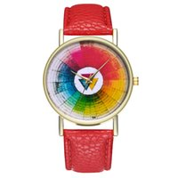 кожаный набор часов оптовых-Women's Watches Fashion  Leisure Set Auger Bracelet Watches Gifts  Leather Stainless Steel Quartz Watch