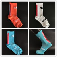 stripe football socks 2018 - SKY KNIGHT Bike Socks Behind Vertical Stripes Cycling Socks Sports Running Calcetines Ciclismo Hombre