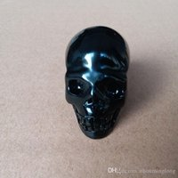 Wholesale Hand Carved Skull - Natural Black Obsidian Quartz Crystal Skull Hand Carved Head Bulk Demon Unique Rough Rock Healing Polished Tumbled Wholesale High Quality