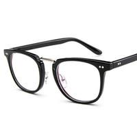 Wholesale high quality spectacles - Popluar Square Glasses Frame Men 2018 High Quality Prescription Eye Optical rivet Glasses frame retro Women Spectacle Eyewear