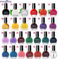 Wholesale fluorescent nail polish colors resale online - PinPai Hot Selling Colors Nail Printing Polish ml Painting Nail Polish for Stamping Fluorescent Neon Nail Art Polish