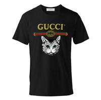 Wholesale animals women hot for sale - Brand Tops Tees Shirt women Cotton T Shirts Hip Hop Animal Print Casual O Neck Short Sleeve tshirt Men Summer New Tees Hot Sale