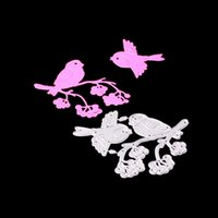 Wholesale diy paper cutting art online - Metal Cutting dies Bird Flower Photograph for Cards Stencil Scrapbooking and Paper Crafts handmade Embossing folder DIY paper craft Machines
