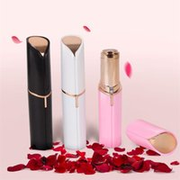 Wholesale female shavers - Lipstick Facial Hair Remover Face Hair Removal Epilator Painless 18K Gold Plated Remover with retail pack